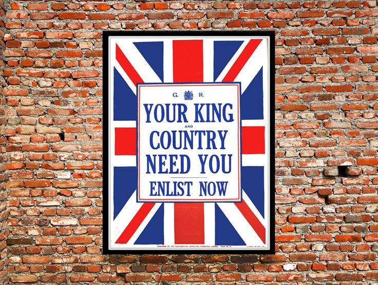 Vintage WW1 British Army Recruitment Poster reprint from $25