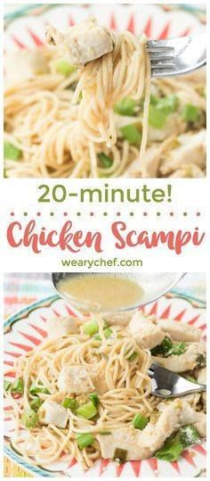 This flavorful quick This flavorful quick chicken scampi recipe...  This flavorful quick This flavorful quick chicken scampi recipe is ready only about 20 minutes! Its a perfect weeknight family meal or just right for guests! Recipe : http://ift.tt/1hGiZgA And @ItsNutella  http://ift.tt/2v8iUYW