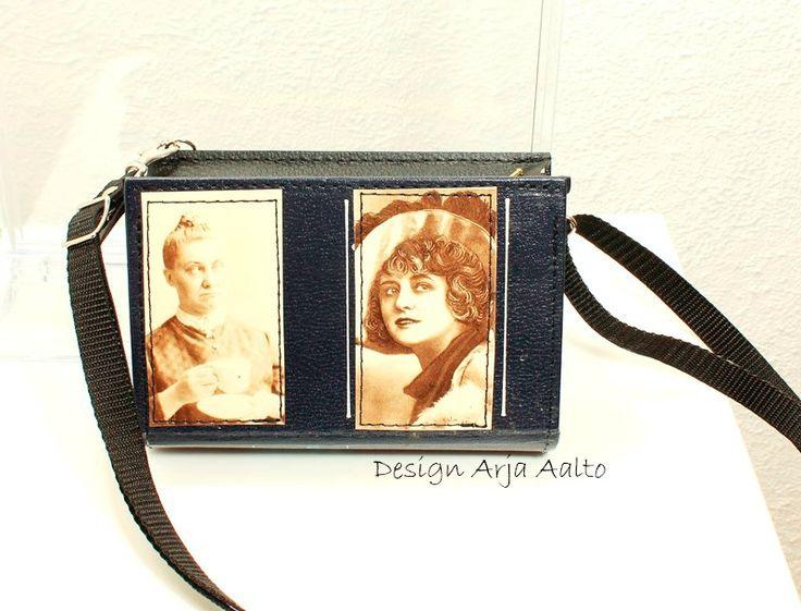 Book purse. #old book #book purse #recycle book