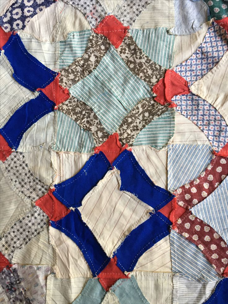 VINTAGE CROSSROADS QUILT TOP. Check evintage auctions on Ebay.