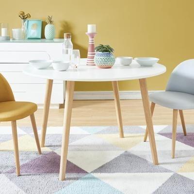 ORATELLO Table à manger de 4 à 6 personnes scandinave laquée blanc mat - L 120 x l 120 cm - Achat / Vente table à manger seule ORATELLO Table manger blanc - Cdiscount