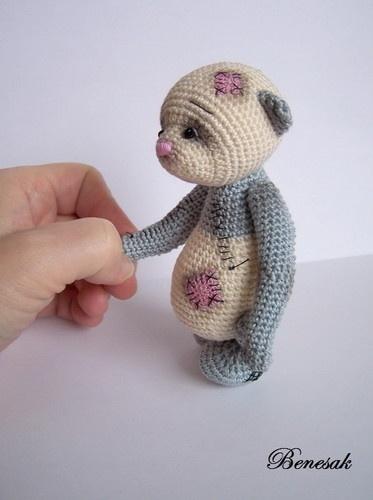 Thread artist crochet Bear by Benesak   eBay
