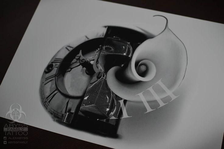 татуировки эскизы цифровое искусство пропасть-ТАТ-2С