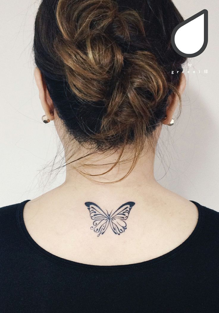 Tattoo Schmetterling mit versteckten Initialen www.facebook.com / …,  #hiddeninitialtattoo …