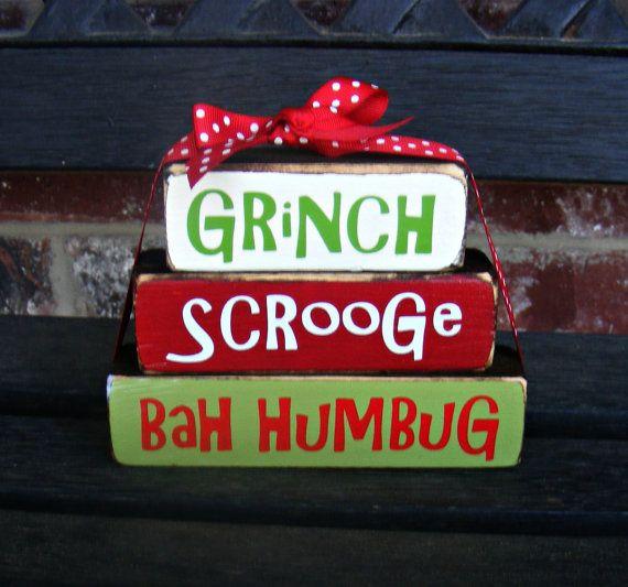 Christmas wood blocksGrinch stacker blocks by jjnewton on Etsy, $9.00