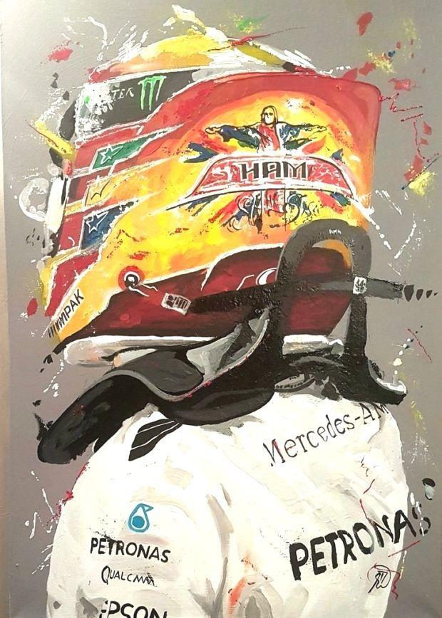 Lewis Hamilton Gemalde Von Lewis Hamilton Artwork F1 Silver Foxx Ii Studio F1 Art Still I Rise Lewis Hamilton