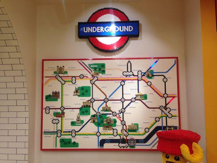 Схема метро из Lego
