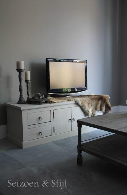 Tv hoek in landelijke stijl