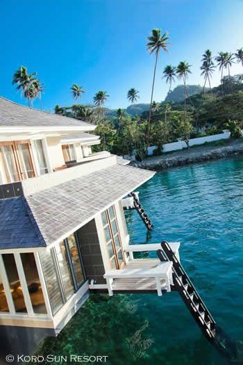 Koro Sun Resort Overwater Bungalow. Fiji (via source)