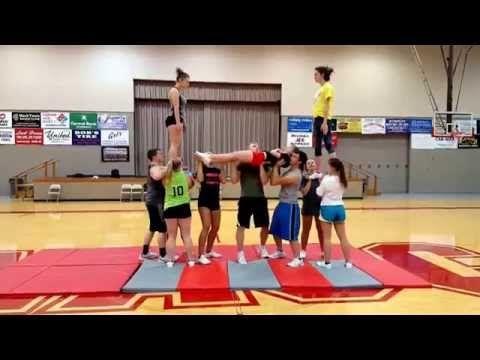 MACC CHEER STUNT!! - YouTube