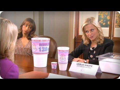 Soda Sizes - Parks and Recreation. #ParksandRec