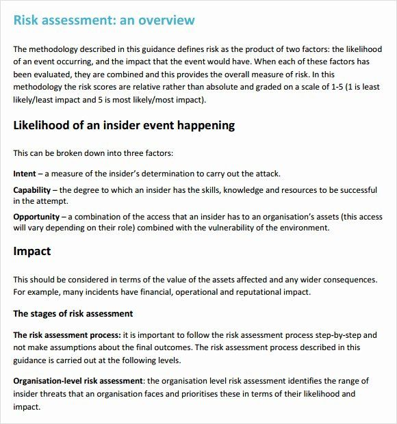Building Security Risk Assessment Template Beautiful Security Risk Assessment 7 Free S Mission Statement Template Risk Analysis Classroom Newsletter Template