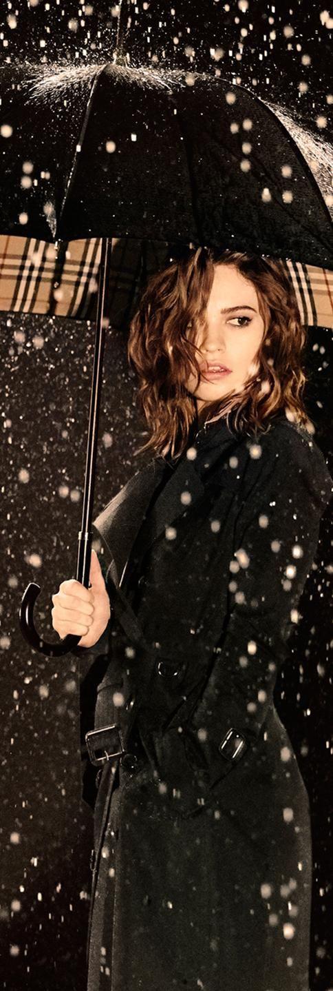 My Burberry Black, the new fragrance for women, evokes the feeling of heavy rain…