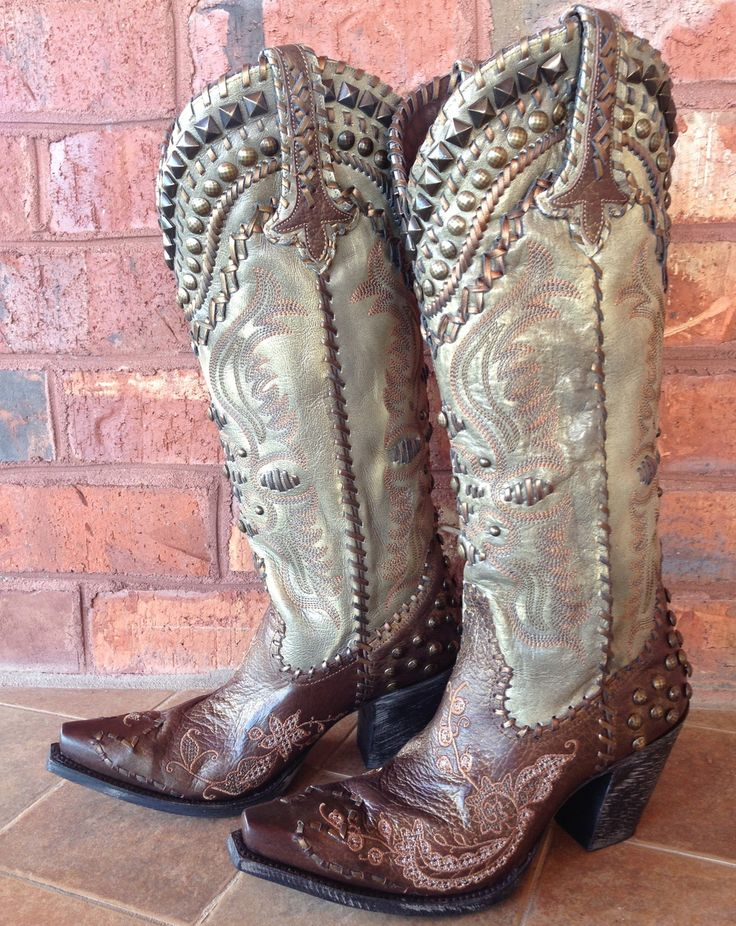 Rivertrail Mercantile - Lane for Double D Ranch Glitter Gulch DD9005, $650.00  #cowgirlclad #cowgirlboots #cowgirl #studdedboots #studs #brownboots #distressedboots #country #southern #concert #backroading #rodeo #cuteboots