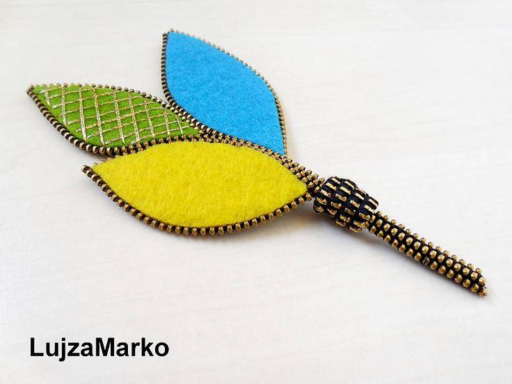 Trojlístok by LujzaMarko - SAShE.sk - Handmade Odznaky/Brošne