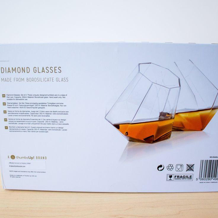 ThumbsUp! Set of 2 Diamond Whisky Tumblers