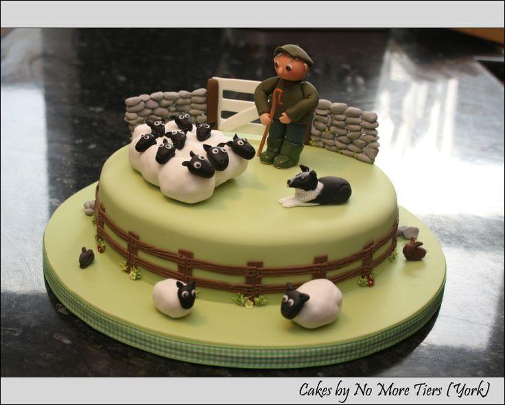 Farmer and sheep cake   Sheep stuff   Pinterest   Border ...