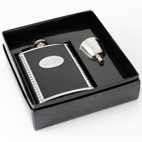 Personalised Black Leather Hip Flask  from Personalised Gifts Shop - ONLY £29.99