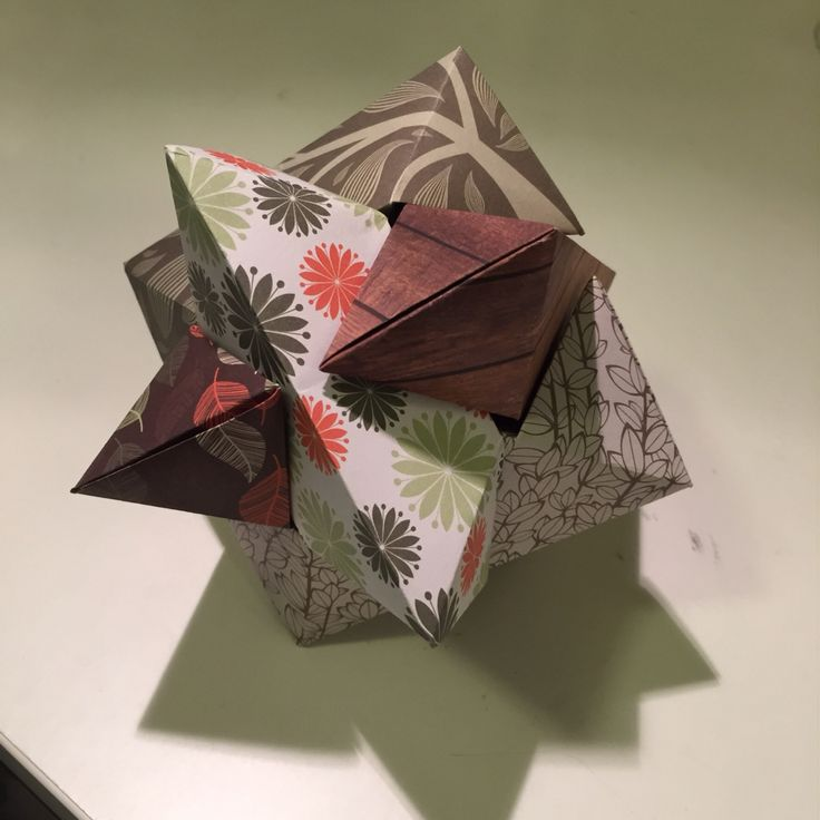origami Burr Puzzle by Froy Composed of six individual blocks interlock together