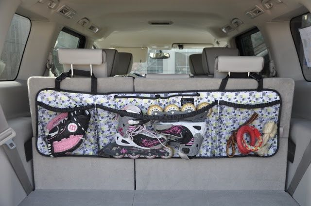 WonderFull Bag for organizing the 'trunk' of your van (hangs over the back row head rests)