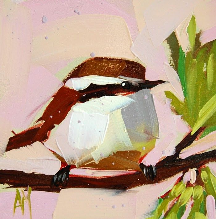 Bird Paintings On Slate Blacl Throated Blue Warbler