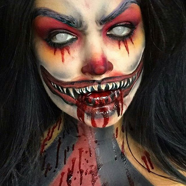 25+ Best Ideas About Scary Clown Makeup On Pinterest | Scary Clown Costume Clown Halloween ...