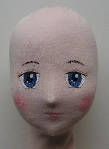 painting doll eyes on cloth | Girl doll Head and face: