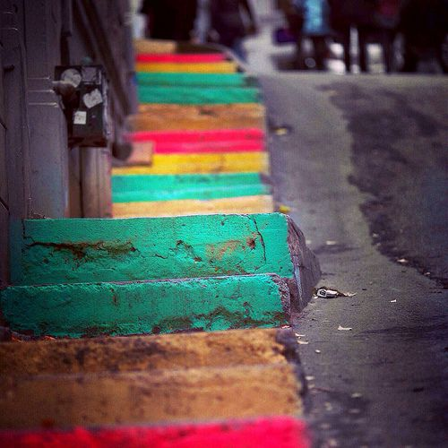 Rainbow stairs #Istanbul #Turkey