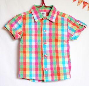 【Kids/Baby】マルチカラーチェックシャツ|チャランガ #男の子シャツ #チェック柄 #スペインブランド #charanga #チャランガ