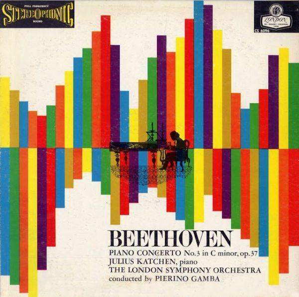 London Records - Beethoven Piano Concerto. Design: Alex Steinweiss