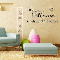 DIY HOME HEART Butterfly Vinyl Wall Art Decor Sticker Mural Removable