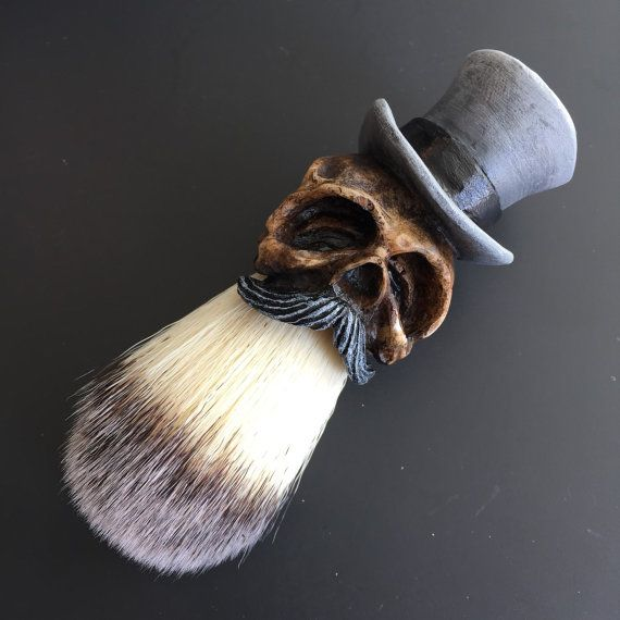 Tophat Shaving Brush Limited Grey by GugerArt on Etsy