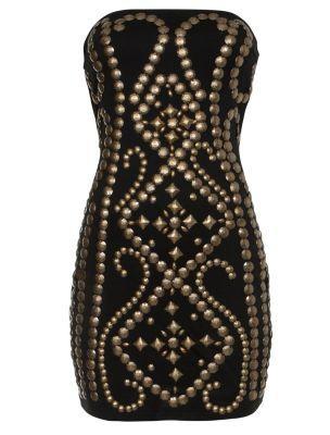 Studded Bandeau Dress