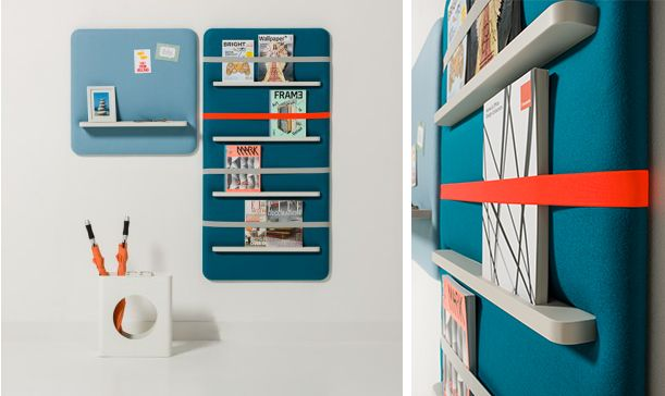 I Love The Colours Of This Wall Mounted Magazine Rack