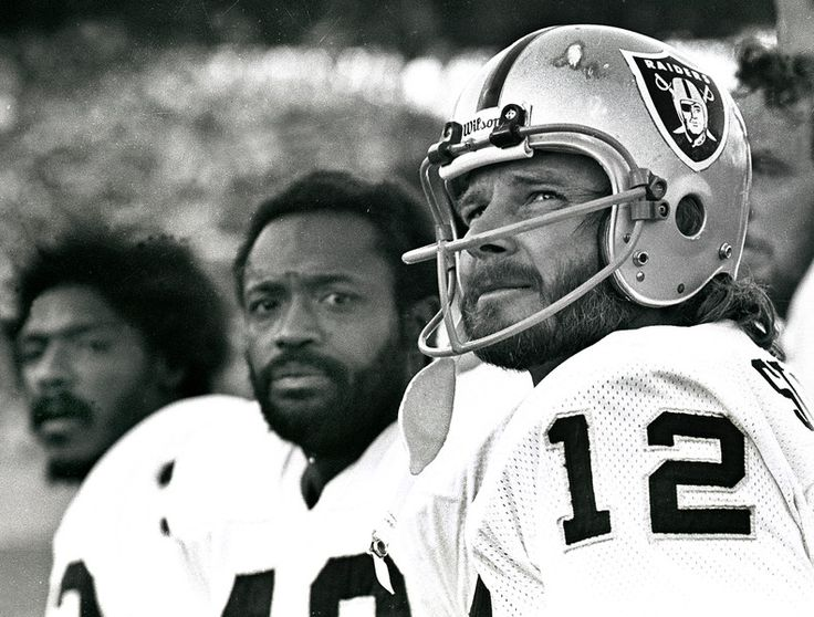 From right, Raiders Ken Stabler, George Atkinson, and  Jack Tatum in the 1970s.  (Ron Riesterer/ Oakland Tribune Archives)
