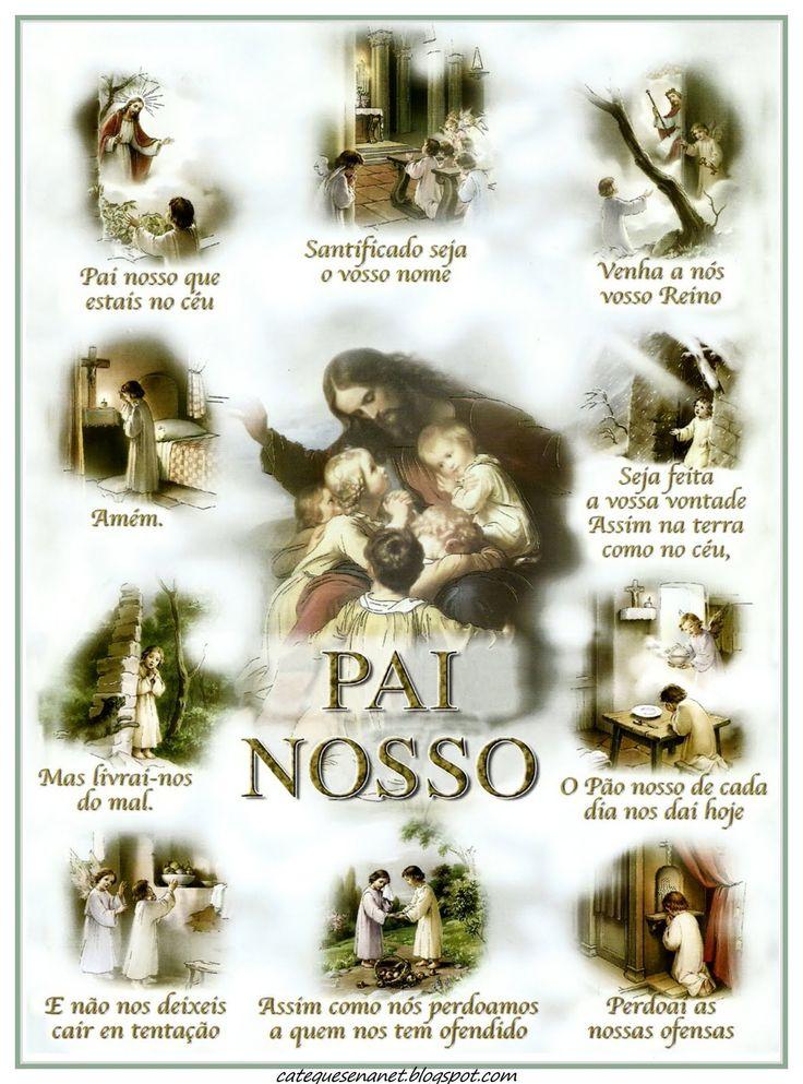 Pôster de Pai-Nosso, Ave Maria e Credo.