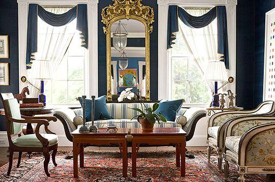 decoracao de interiores de casas antigas : decoracao de interiores de casas antigas:Traditional Home Window Treatment