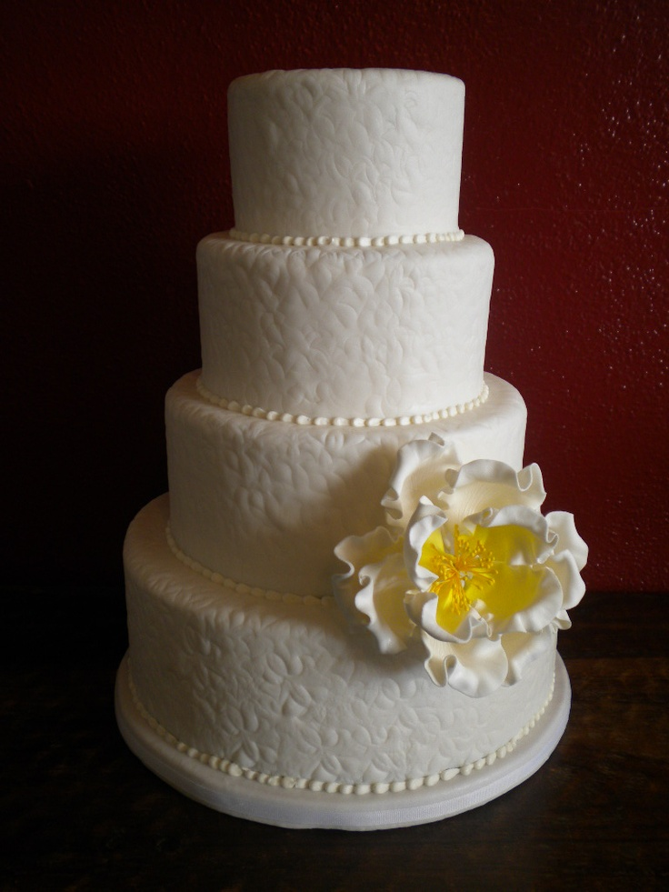 Textured Fondant Wedding Cake