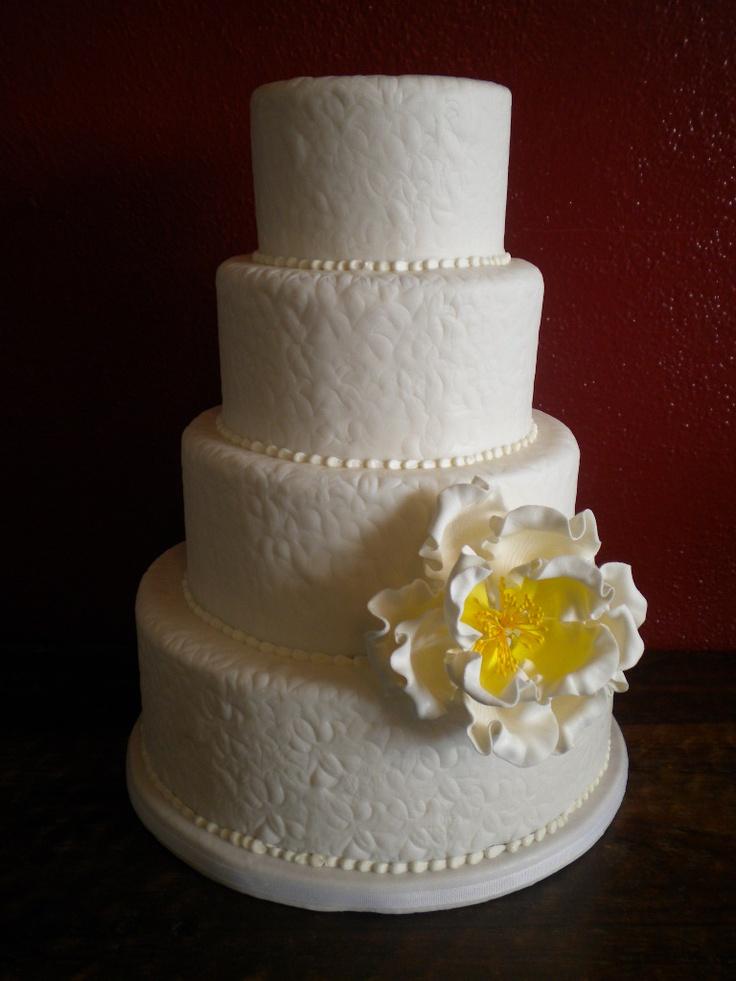 Textured Fondant Wedding Cake   Wedding Cakes   Pinterest ... - photo#37