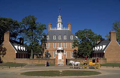 A closer look at the Governor's Palace in Williamsburg, where the wounded were hospitalized after Yorktown.