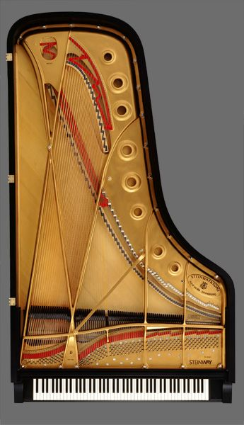 """Steinway concert grand piano... http://www.total-piano-care.com/Steinway-and-Sons.html And remember, it's not 9', but rather, just shy of 9' [8' 11 3/4""""] ;) David Crombie in his book, Piano. The Model D uses 2.75 miles of wire, and the longest string is 79 1/4""""."""