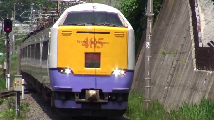 Японский поезд экспресс JR 485-3000.Japanese train