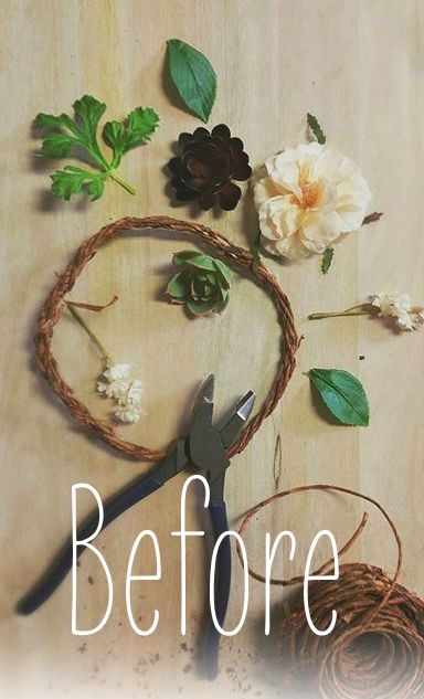 how to make a flower crown out of fake flowers