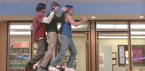 He also had some pretty great dance moves. | 18 Reasons You Had A Crush On John Bender From The Breakfast Club