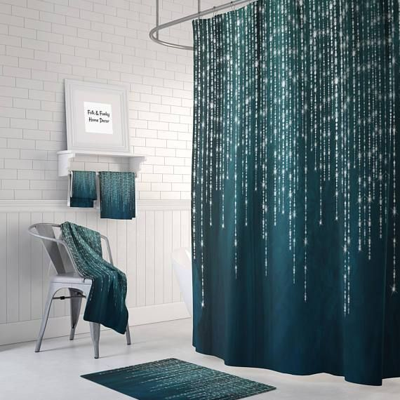 Dark Green Shower Curtain Green Shower Curtains Teal Shower