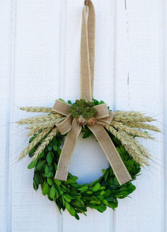 Spring Wreath Boxwood Wreath Small Boxwood by CreationsByCarol13