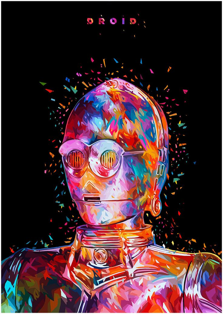 Geek Art Gallery: Posters: Abstract Color Star Wars