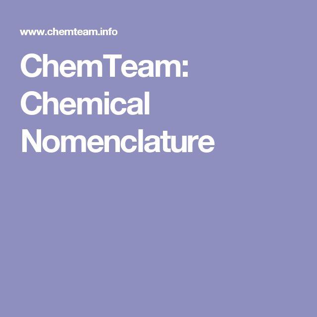 ChemTeam: Chemical Nomenclature