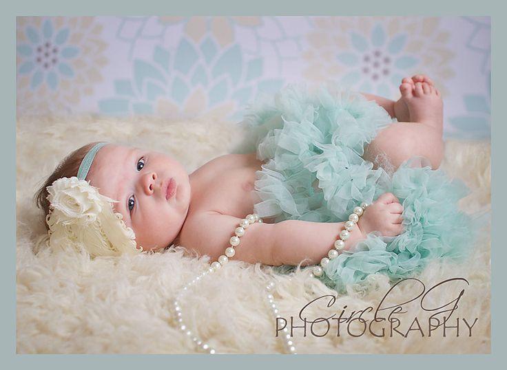 Aqua Petti Skirt Tutu Newborn By ElenaRoseBowtique
