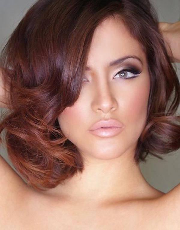 Hair and makeup….Luv the nude lip with smokey eye and old Hollywood feel of th